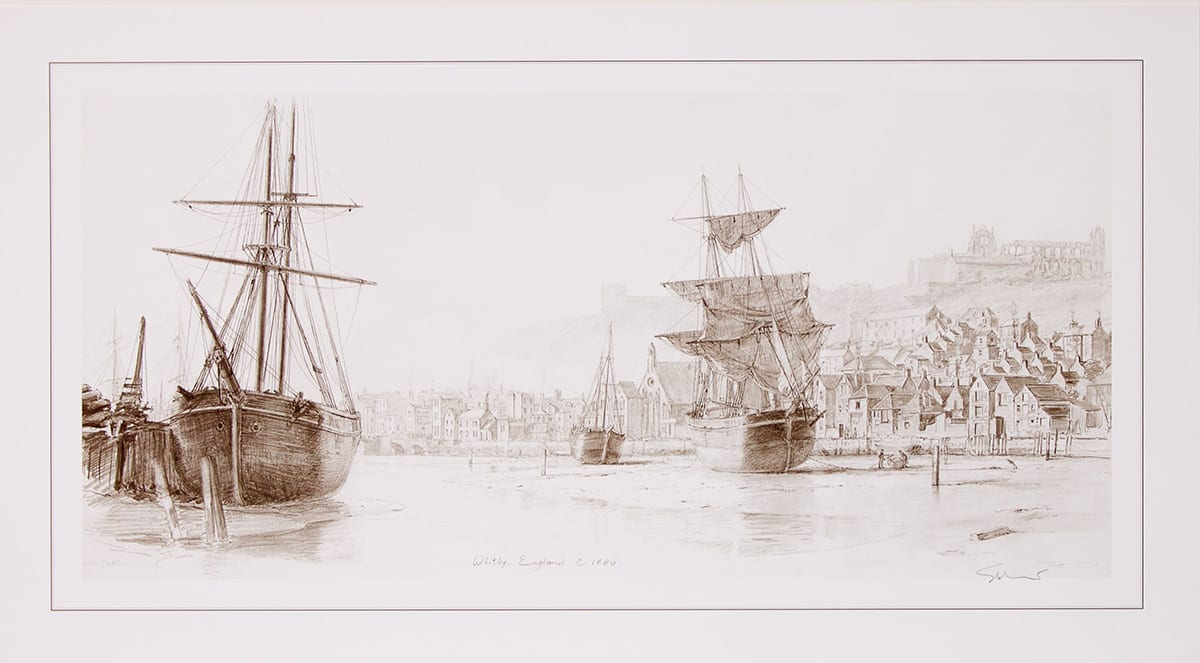 Inner Harbor of Whitby England c.1880